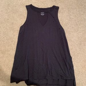 American eagle distressed tank top